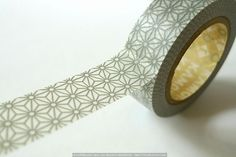 Grey STAR Traditional Pattern Japanese Washi Tape $4.00