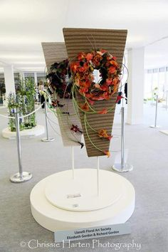 Artist and design by Elizabeth Gordon and Richard Gordon, Llanelli Floral Art Society