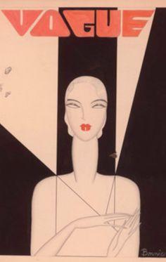 Vogue.  Art Deco beau graphisme , lettres et dessin