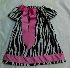 Zebra print twill dress by tutus2trains on Etsy, $30.00
