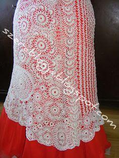 Szera blogja: Horgolt Menyasszonyi ruha 13. rész - Crocheted Wedding dress part 13 Lace Skirt, Wedding Dress, Jewelry Making, Crochet, Skirts, Blog, Fashion, Bride Dress Up, Crochet Hooks