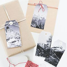 Use pictures as gift tags
