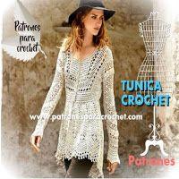 Túnica vintage crochet con patrones