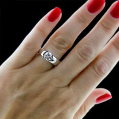 A gem solitaire could be the essential gemstone diamond engagement ring. Although other gemstone diamond engagement ring settings fall and increase in recognition, a solitaire ring can be a classic… Modern Engagement Rings, Engagement Ring Settings, Solitaire Engagement, Thick Band Engagement Ring, Diamond Solitaire Rings, Diamond Wedding Rings, Diamond Jewelry, Wedding Bands, Sapphire Rings
