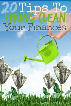 Spring Clean Your Home Finances - Spring clean your home finances with this 20 helpful tips. Spring clean your home finances by organizing, de-cluttering, and rejuvenated your finances.  #Spring
