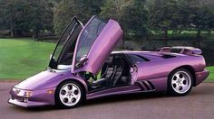 purple cars, purple trucks, purple SUV, purple classic cars, purple muscle cars Lamborghini Diablo, Huracan Lamborghini, Lamborghini Models, Luxury Sports Cars, Sport Cars, Car Wall Art, Canada, Car Pictures, Concept Cars