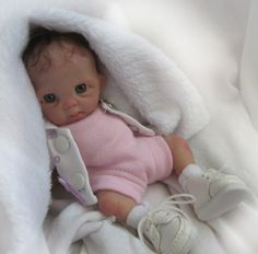 """OOAK Polymer Clay Original Hand Sculpted Collector Doll 6"""" Baby Girl Trice   eBay"""