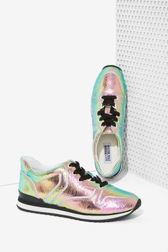 Iggy Azalea x Steve Madden Rundown Leather Sneaker - Metallic