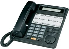 Panasonic Handset In Black - HeyMot Communications Office Works, Office Phone, Telephone, Camera Phone, Landline Phone, Consumer Electronics, Buttons, Digital, Things To Sell