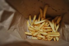 """The fries at the bottom of the bag is the reason why I'm alive still. ""-Rome"