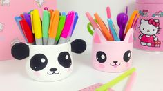 Manualidades KAWAII,organizador (ideas para decorar)panda y gato Kawaii