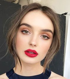 The holidays calls for a festive red lipstick along with light and neutral eyes. Go brighter and bolder with a super-pigmented red like Mac Lipstick in Ruby Woo ($36). With so much focus on...