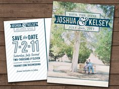Custom Modern Style Save the Date- postcard design, digital file