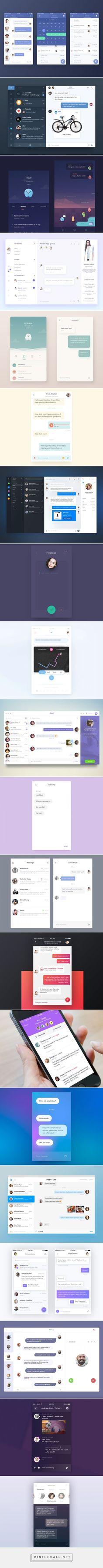Chat/Messaging UI Inspiration — Muzli -Design Inspiration — Medium - created via… Ui Design Mobile, Web Ui Design, Mobile Ui, Interface Web, User Interface Design, App Design Inspiration, Application Design, Ui Animation, Chat App