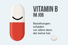 Vitamin B, also B wie Beziehungen, sind bei der Bewerbung wie auch bei der Beförderung unumgänglich...