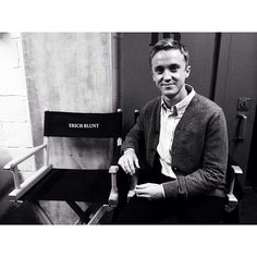 Tom Felton on set of Murder in the First