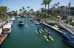 Hydrobiking the Naples Canal in Long Beach