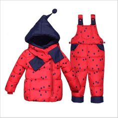 >> Click to Buy << 2017 Children's Down Coat Set Winter Boy & Girl Clothes Fashion Polka Dot Children's Clothing Thicken Hooded Three Pieces Set #Affiliate
