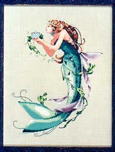 Queen Mermaid, The - Cross Stitch Pattern