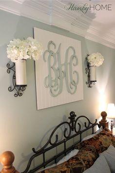 DIY Monogram Wall Art | The Hamby Home