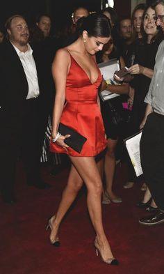 03b461c6439 2 Selena Gomez  Rudderless Screening Christian Dior Red Mini Dress and  Christian Louboutin Unbout Pumps