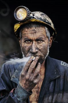 This coal miner was photographed just after he emerged from his day's work in Pul-i-Kumri, Afghanistan