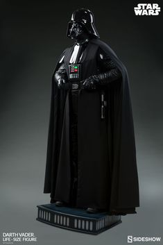 The Darth Vader Life-Size Figure now available at SideshowCollectibles.com for fans of Star Wars and Disney.