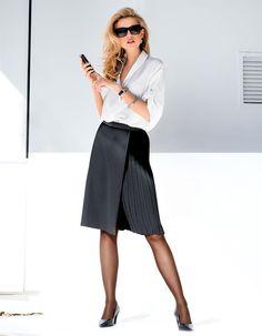 Rock in Wickeloptik in der Farbe schwarz - im MADELEINE Mode Onlineshop