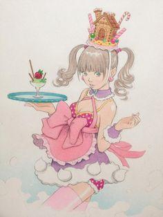 背景に淡いグラデーション。色鉛筆でコリコリ by Eisaku