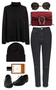 """archives"" by redapplecigarettes ❤ liked on Polyvore featuring Topshop, Helmut Lang and Prada"