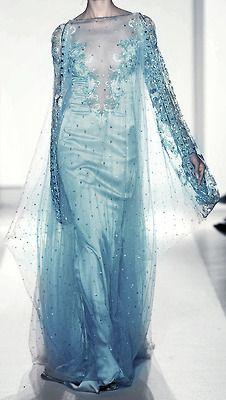 disney fashion dress edit blue aqua turquoise closet crystals haute couture frozen Elie Saab inspired wardrobe gowns elsa embelishments zuhair muhad dollyribbonedit