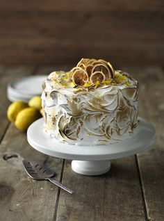 Light and sweet lemon sponge is coated with pillowy soft Italian meringue which has been blowtorched to transform this cake into a bold showstopper Lemon Meringue Cake, Lemon Sponge, Italian Meringue, Spring Recipes, Wow Products, Treat Yourself, Food Inspiration, Easter, Treats