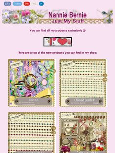 """Ad: New Scrapkit """"Elna"""",Commercial Use Chained Beads 1 and 2, and more from Nannie Bernie!https://madmimi.com/s/0c0315"""