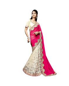 Pink Zari Work Saree Check out all the details of this product here: http://www.ethnicstation.com/pink-zari-work-saree-vl1712    #ZariWorkSaree  #DiscountSale