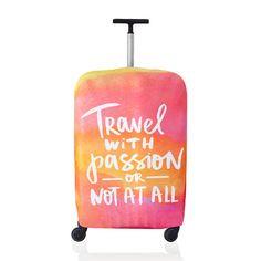 Чехол для чемодана Travel with passion
