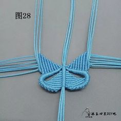 点击查看原图 Macrame Jewelry Tutorial, Bracelet Patterns, Knots, Origami, Crochet Necklace, Dangles, Butterfly, Handmade, Diy