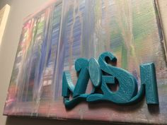 "11""x14"" canvas w/3D printed sculpture"