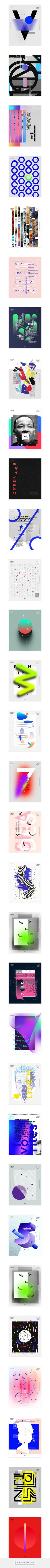 Baugasm - One poster every day for 365 on Behance... - a grouped images picture - Pin Them All