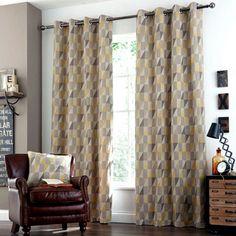 Ochre Revival Eyelet Curtain Collection   Dunelm