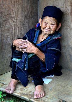 Elderly Hmong Woman by Rob Kroenert