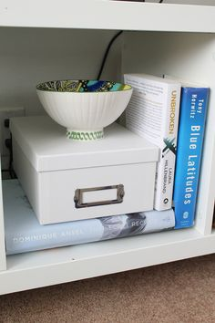 How to Hide an Unsightly Cable Box | http://www.hammerandheelsblog.com/how-to-hide-an-unsightly-cable-box/