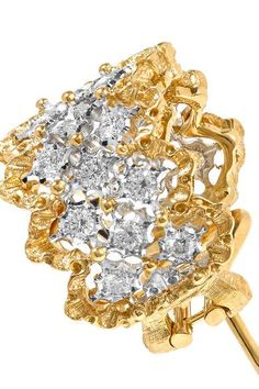 Buccellati - Rombi 18-karat Yellow And White Gold Diamond Earrings - one size