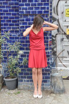Sommer Kapuzenkleid Nike in Rot von ManduTrap auf Etsy