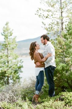 Scenic Colorado engagement session: Photography : Tamara Gruner Photography Read More on SMP: http://www.stylemepretty.com/colorado-weddings/lake-dillon/2016/08/02/scenic-colorado-mountain-engagement-session/