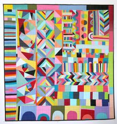 geometric quilt by Lu Summers