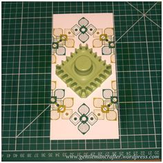 Inkadinkado Stamping Gear - Working With Squares and Rectangles - Twisted Square On Long Card - Stage 2 Spirograph Art, Create And Craft Tv, Paper Art, Paper Crafts, Girl Cave, Card Making Supplies, Embossed Cards, Card Making Techniques, Squares