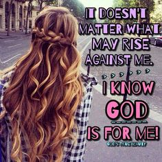 He is for me....