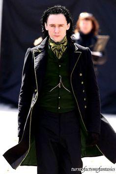 "Yes please - Tom Hiddleston on the set of ""Crimson Peak"" He still looks like Loki! Tom Hiddleston Imagines, Tom Hiddleston Loki, Tom Hiddleston Crimson Peak, Beautiful Men, Beautiful People, Gorgeous Gorgeous, Mode Inspiration, Look Cool, Film"