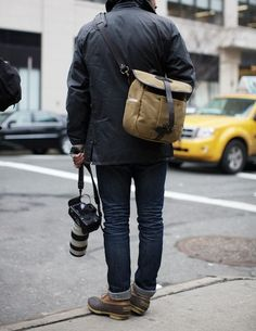 """""""There's two reasons why these familiar heritage brands continue to prevail—superior quality and extreme functionality."""" L.L Bean Duck boot at NY Fashion Week"""