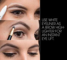 22 Genius Eyeliner Hacks Every Woman Needs to Know - Ways To Use Eyeliner - Elle hacks for teens girl should know acne eyeliner for hair makeup skincare Eyeliner Hacks, Perfect Eyeliner, Eyeliner Styles, White Eyeliner, Best Eyeliner, How To Apply Eyeliner, Eyeliner Waterline, Perfect Makeup, Living Proof Hair Products